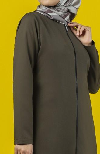 Khaki Abaya 2138-01