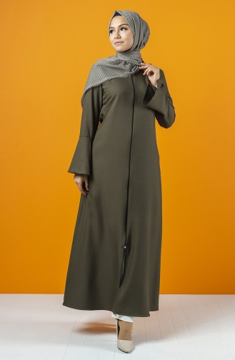 Khaki Abaya 2139-02
