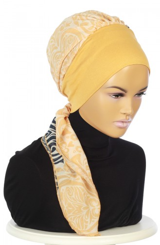 Mustard Ready to wear Turban 0065-11-S