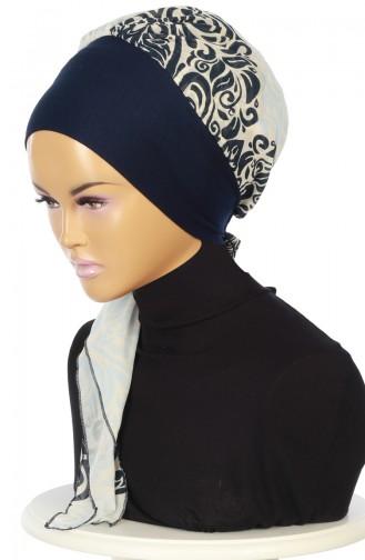 Practical Turban HT0065-1-27 Navy Blue 0065-1-27