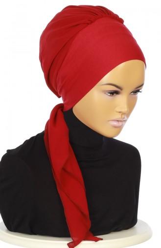 Practical Turban HT0065-3-7 Claret Red 0065-3-7
