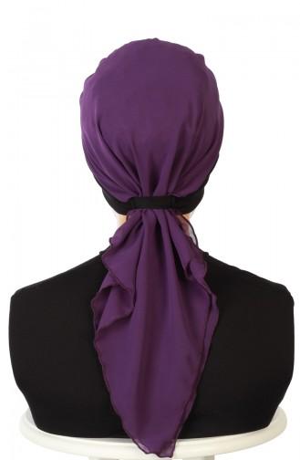 Practical Turban HT0065-6-20 Black Purple 0065-6-20