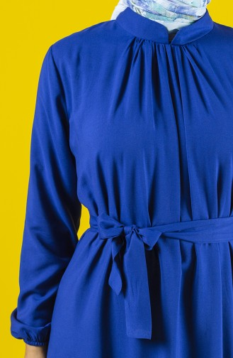Saks-Blau Hijap Kleider 10143-03