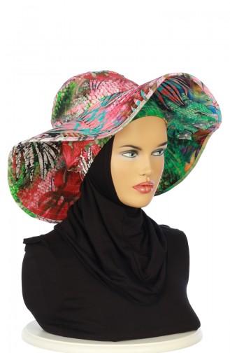 Coral Hat and bandana models 001-01