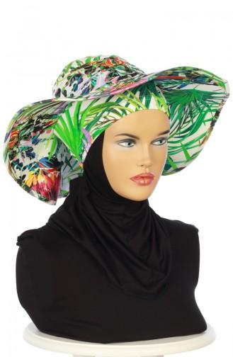 Green Hat and bandana models 001-02