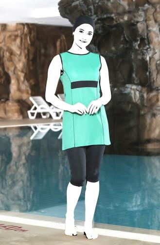 Ärmelloser Pool Badeanzug 0120-03 Wassergrün 0120-03