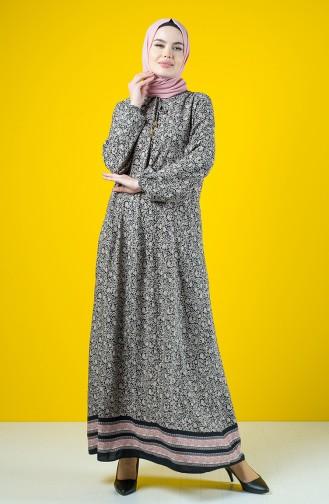 Schwarz Hijap Kleider 8190-02
