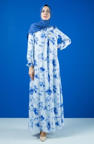 A Pile Viscose Dress 8207A-01 Blue 8207A-01