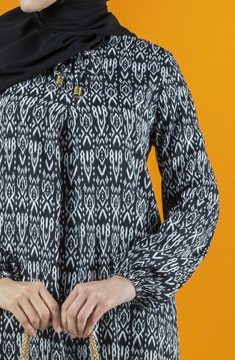 A Pile Viskon Elbise 8207C-01 Siyah