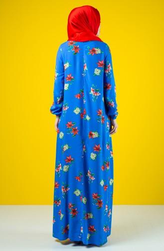 A Pile Viscose Dress 8207E-01 Saxe Blue 8207E-01
