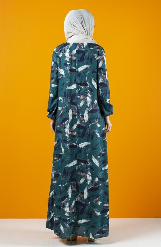 A Pile Viskon Elbise 8207N-01 Zümrüt Yeşili