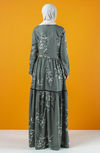 Robe à Motifs 8198-01 Vert 8198-01