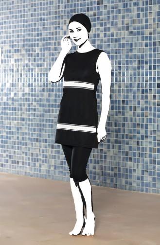 Black Swimsuit Hijab 0121-01
