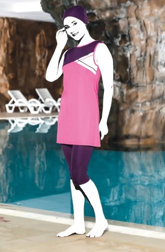 Ärmelloser Pool Badeanzug   0122-04 Pink 0122-04