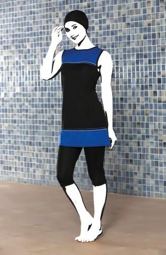 Striped Pool Swimsuit 0123-02 Black 0123-02