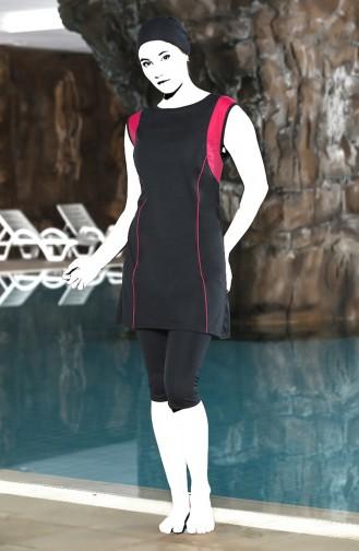 Büyük Beden Havuz Mayo 0124-01 Gri