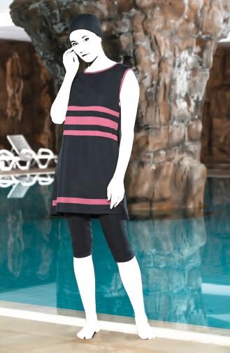Grösse Grosse Nullarm Pool Badebekleidung  0126-02 Anthrazit 0126-02