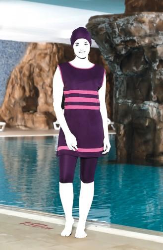 Purple Swimsuit Hijab 0126-03