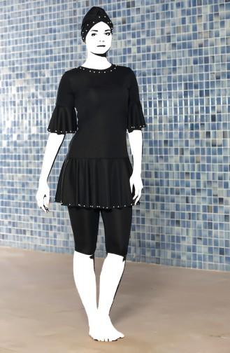 Black Swimsuit Hijab 0200-02