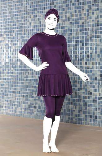 Purple Swimsuit Hijab 0200-03