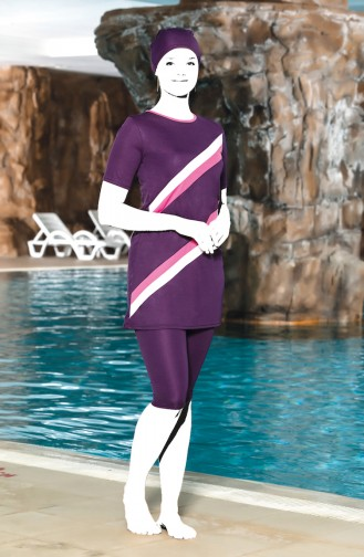 Purple Swimsuit Hijab 0201-02