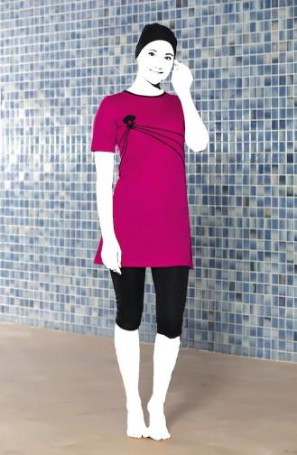 Fuchsia Swimsuit Hijab 0202-03