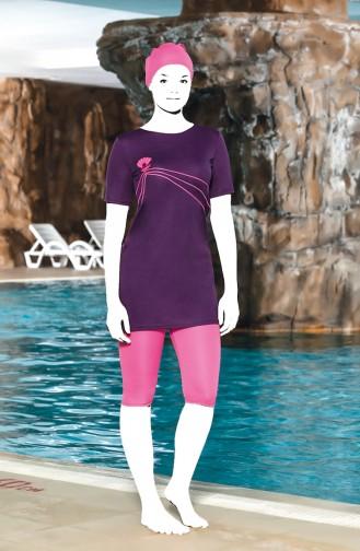 Purple Swimsuit Hijab 0202-07
