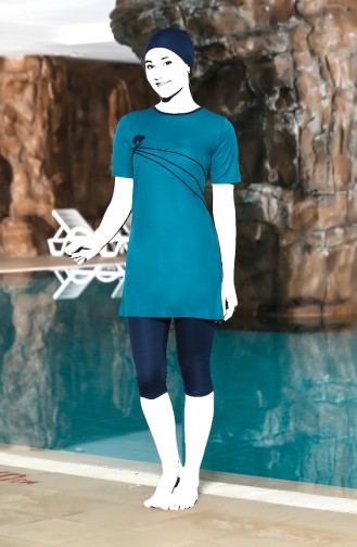 Turquoise Swimsuit Hijab 0202-08