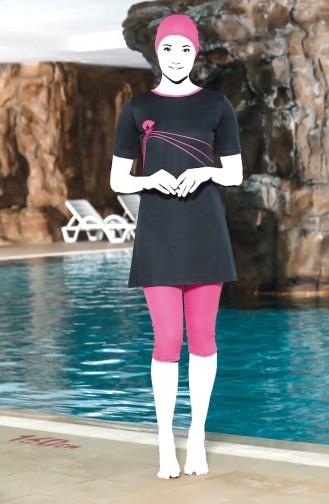 Fuchsia Swimsuit Hijab 0202-09