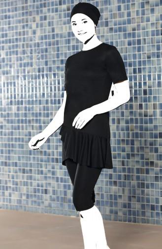 Black Swimsuit Hijab 0204-01