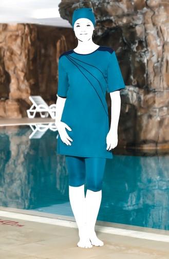 Turquoise Swimsuit Hijab 0206-02