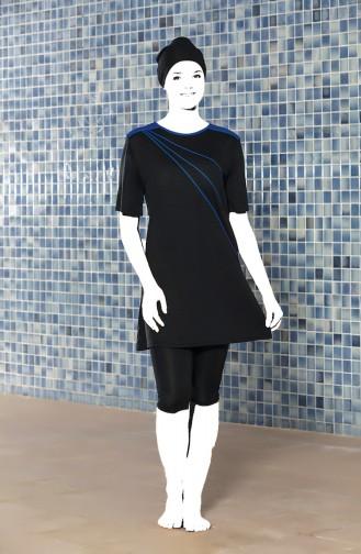 Black Swimsuit Hijab 0206-03