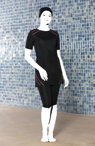 Black Swimsuit Hijab 0209-01