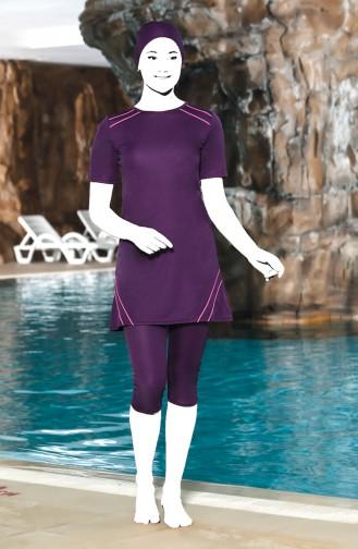 Grösse Grosse Pool Badeanzug 0209-02 Violett 0209-02
