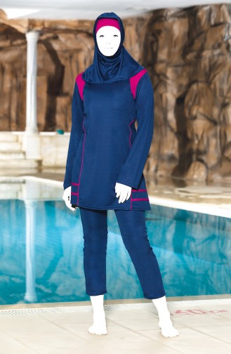 Navy Blue Swimsuit Hijab 0309-03