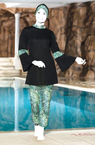 Green Swimsuit Hijab 4300-01