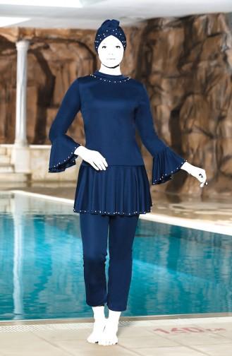 Navy Blue Swimsuit Hijab 4301-02