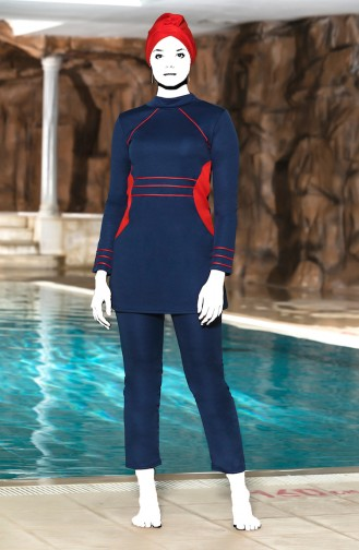 Navy Blue Swimsuit Hijab 4303-02