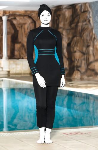 Turquoise Swimsuit Hijab 4303-03