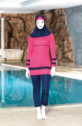Navy Blue Swimsuit Hijab 4304-03