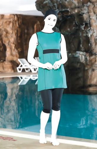Turquoise Swimsuit Hijab 0120-02