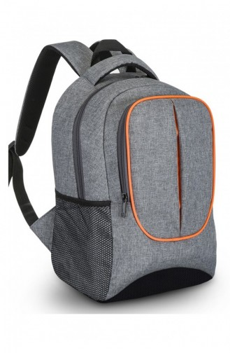 European Bag 00091 Gray Fabric Backpack 0500091104941