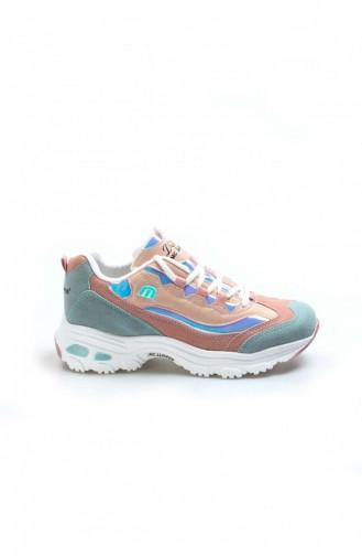 Fast Step Spor Ayakkabı Su Yesili Pudra Sneaker Ayakkabı 865Za1901