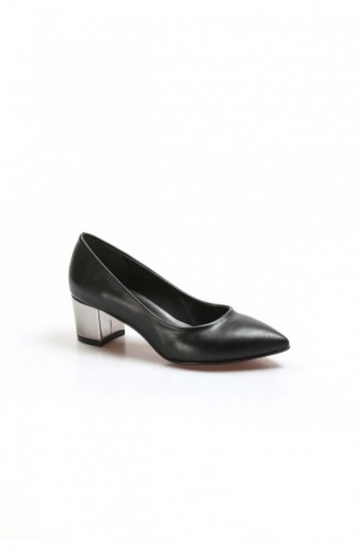 Black Heeled Shoes 629ZA039-150-16777429