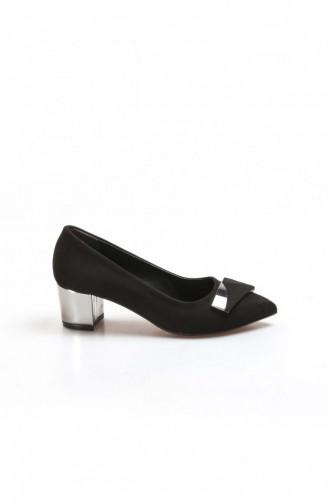 Black Heeled Shoes 629ZA039-156-16781290