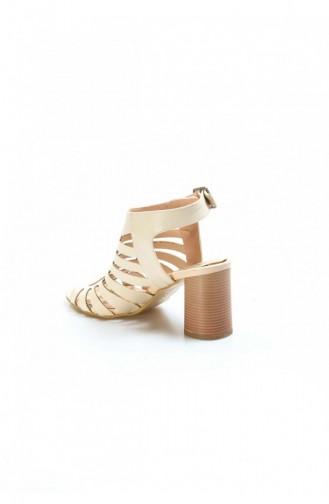 Fast Step Topuklu Ayakkabı Ten Kalın Topuklu Ayakkabı 629Za2167027