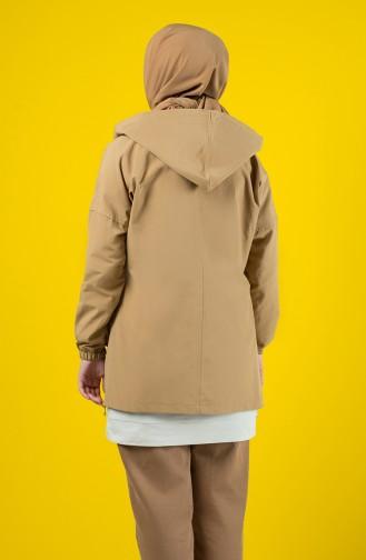 Trench Coat à Capuche 6076-03 Camel 6076-03