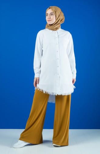 Pantalon Large Taille élastique 8137-02 Moutarde 8137-02