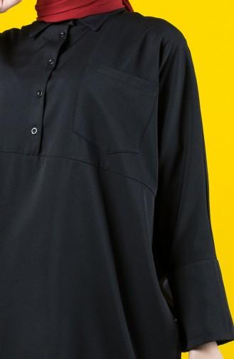Bat Sleeve Tunic Pants Binary Suit 8142-02 Black 8142-02
