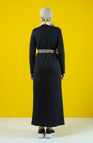 Belted Dress 0504-07 Black 0504-07